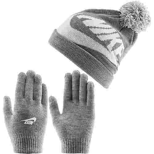 Nike Swoosh Set Mütze und Handschuhe dark-grey-heather