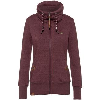 Ragwear Rylie Sweatjacke Damen wine red