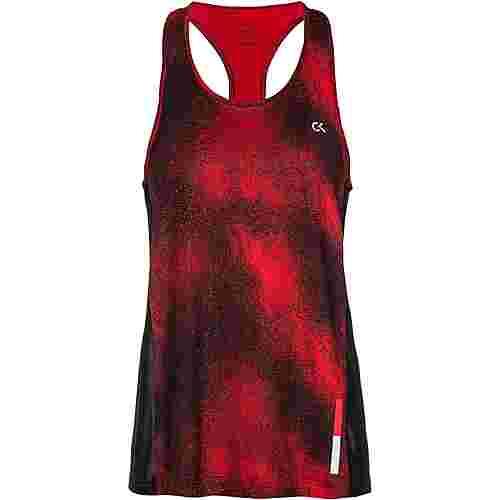 Calvin Klein Galaxy Funktionstank Damen ck black-flashing red