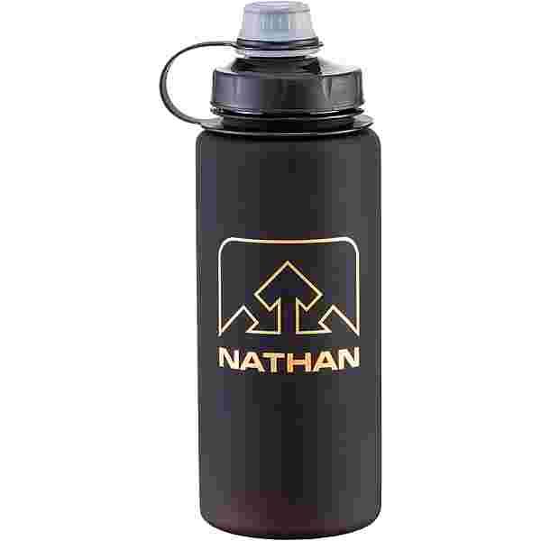NATHAN Trinkflasche black-gold