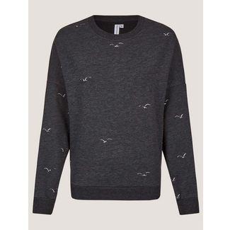 Cleptomanicx Sweatshirt Damen Phantom Black