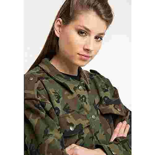 MYMO Sweatjacke Damen camouflage aop