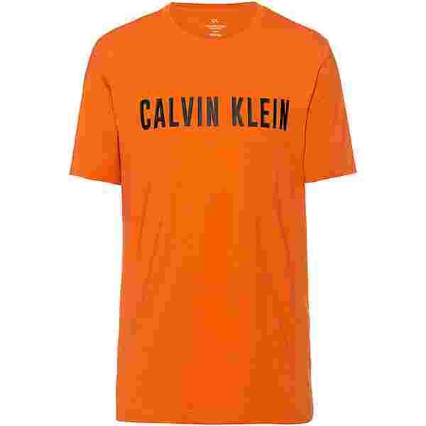 Calvin Klein T-Shirt Herren burnt orange-ck black