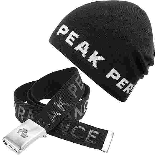Peak Performance Set Mütze und Gürtel black