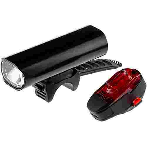 Lezyne Beleuchtungsset Hecto Pro 65 + KTV Fahrradbeleuchtung schwarz
