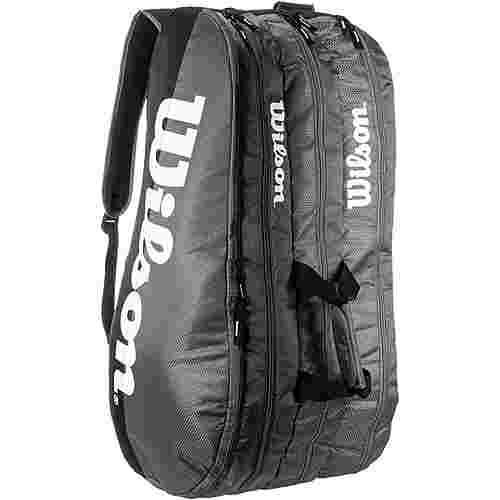 Wilson TEAM 3 COMP Tennistasche grey-black
