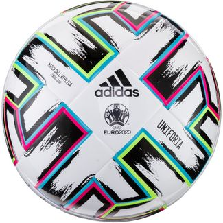 adidas EM 2020 UNIFO LGE J290 Fußball white-black-signal green-bright cyan
