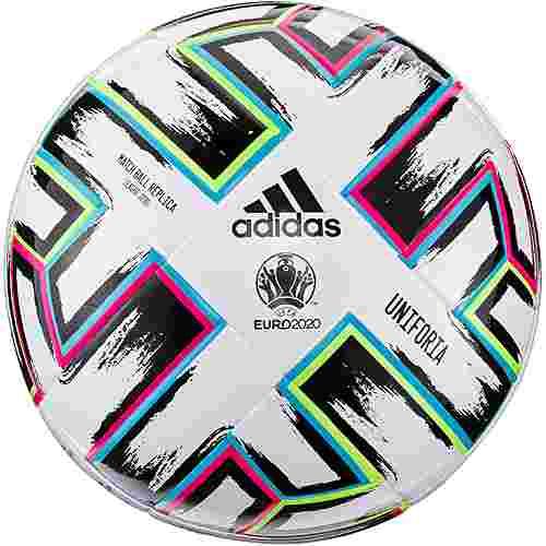 adidas EM 2021 UNIFO League J290 Fußball white-black-signal green-bright cyan