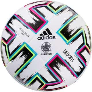 adidas EM 2021 UNIFO League Fußball white-black-signal green-bright cyan