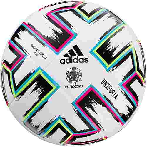 adidas EM 2020 UNIFO LGE Fußball white-black-signal green-bright cyan