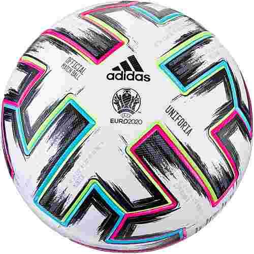 adidas EM 2020 UNIFO PRO Fußball white-black-signal green-bright cyan