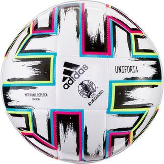 adidas EM 2020 UNIFO TRN Fußball white-black-signal green-bright cyan