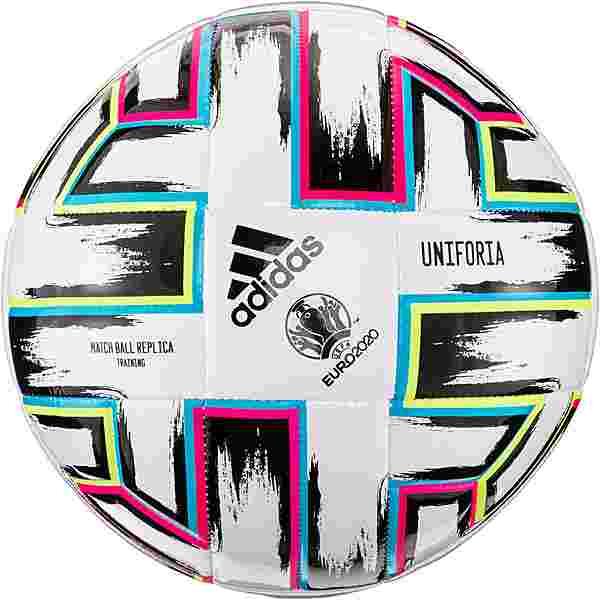 adidas EM 2021 UNIFO Training Fußball white-black-signal green-bright cyan