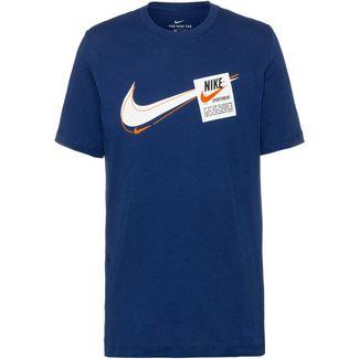 Nike T100 Swoosh Heritage T-Shirt Herren coastal blue