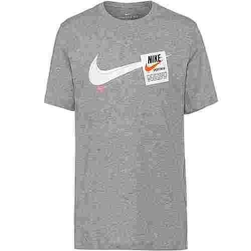 Nike T100 Swoosh Heritage T-Shirt Herren dark grey heather
