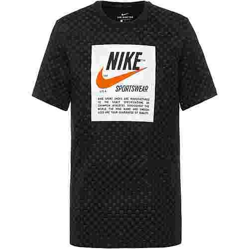 Nike T100 Swoosh Heritage T-Shirt Herren black-dark grey