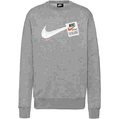 Nike T100 Swoosh Heritage Sweatshirt Herren dark grey heather