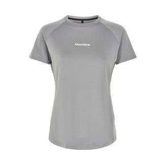 New Line Black Tech Tee Laufshirt Damen Wet Grey