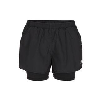 New Line Base 2 Layer Shorts Laufshorts Damen Black