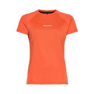 New Line Black Tech Tee Laufshirt Damen Soft Orange