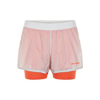 New Line Black 2-Lay Shorts Laufshorts Damen Nimbus Cloud