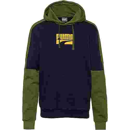 PUMA Rebel Block Hoody FL Sweatshirt Herren peacoat
