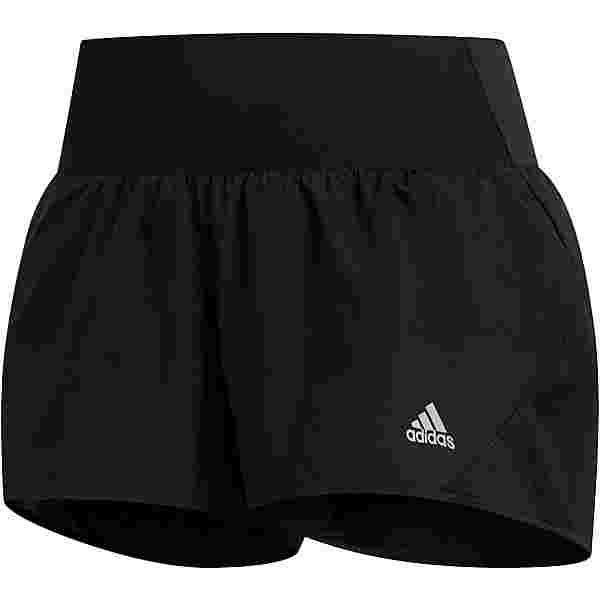 adidas 3-STRIPES RUNNING RESPONSE AEROREADY Funktionsshorts Damen black
