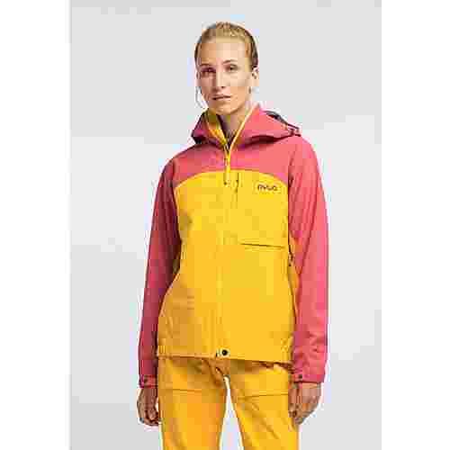 PYUA Gorge Funktionsjacke Damen dark rose pumpkin yellow