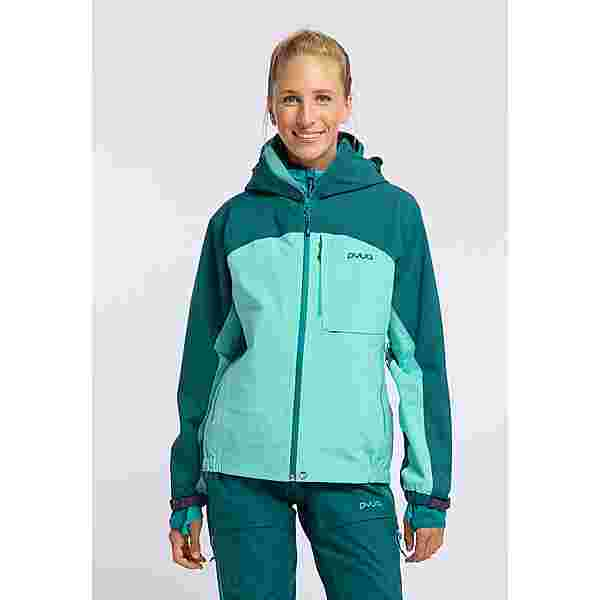 PYUA Gorge Funktionsjacke Damen petrol blue pool blue