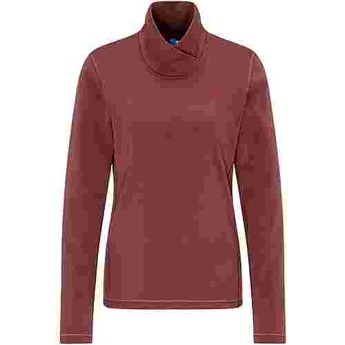 PYUA Temper Funktionssweatshirt Damen mahogany red