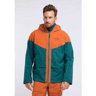 PYUA Gorge-Y Funktionsjacke Herren rusty orange petrol blue