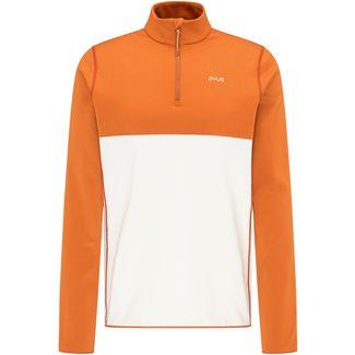 PYUA Spin Funktionssweatshirt Herren rusty orange foggy white