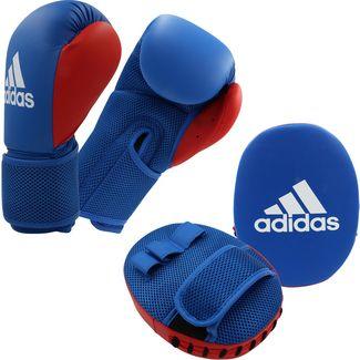 adidas Boxset Handschuhe+Pratze Boxhandschuhe Kinder blue-red