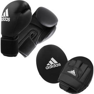 adidas Boxset Handschuhe+Pratze Boxhandschuhe black
