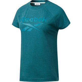 Reebok Texture T-Shirt Damen heritage teal mel