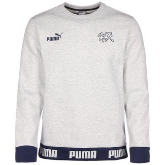 PUMA SFV Schweiz FtblCulture Funktionssweatshirt Herren hellgrau / schwarz