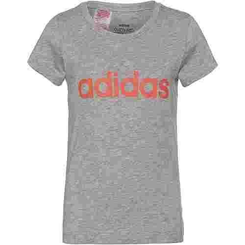adidas YG E LIN TEE T-Shirt Kinder medium grey heather