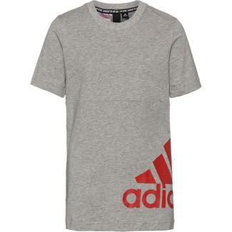 adidas YB MH BOS T2 T-Shirt Kinder medium grey heather