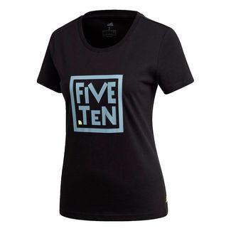 adidas Five Ten Heritage Graphic T-Shirt Funktionsshirt Damen Schwarz
