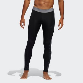 adidas Alphaskin Graphic lange Tight Tights Herren Schwarz