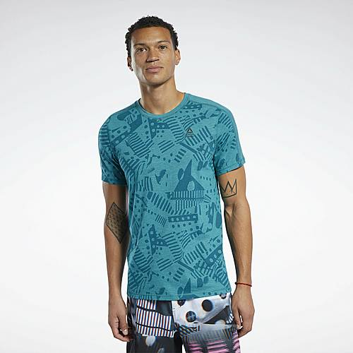 Reebok Funktionsshirt Herren Seaport Teal Mel im Online Shop von SportScheck kaufen