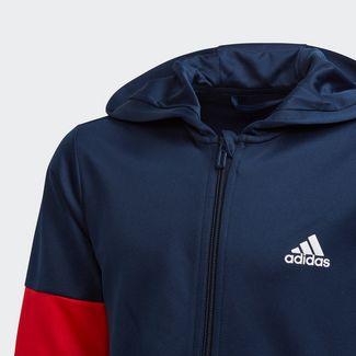 adidas Sweatshirt Kinder Collegiate Navy / Vivid Red / White