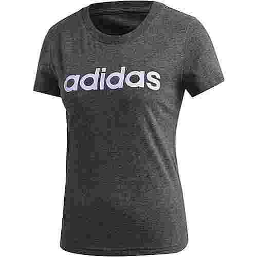 adidas Linear Funktionsshirt Damen dark grey heather