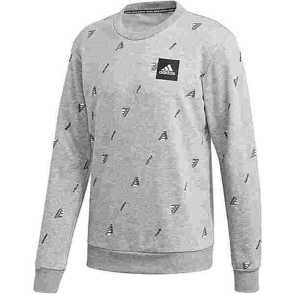 adidas GFX Sweatshirt Herren medium grey heather