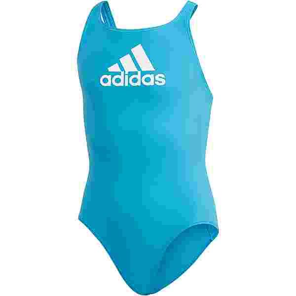 adidas BADGE OF SPORT Badeanzug Kinder shock cyan