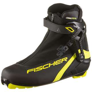 Fischer RC3  Skate Langlaufschuhe schwarz-gelb