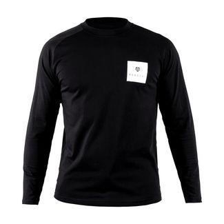 MOROTAI Premium Block Logo Longsleeve Langarmshirt Herren Schwarz