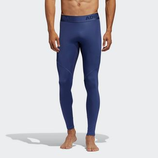 adidas Alphaskin Sport lange Tight Tights Herren Blau