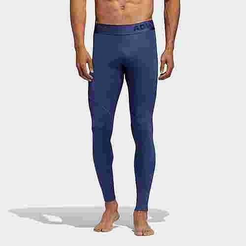 adidas Alphaskin Sport lange Tight Tights Herren Blau