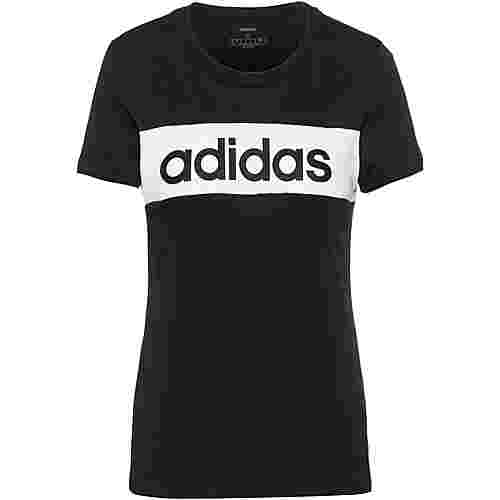 adidas T-Shirt Damen black-white